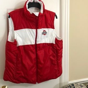 Ohio State puffy reversible vest by Columbia-XL